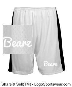 Youth Black Bearz Shorts Design Zoom
