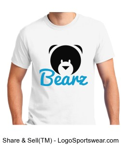 Limited Edition Bearz White w/blue writing T-Shirt Design Zoom