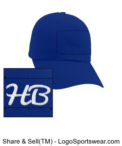 Blue Huntington Bearz Hat Design Zoom