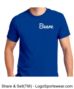 Blue Bearz T Shirt Design Zoom