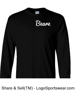 Black Bearz Long shirt Design Zoom