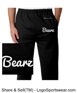 Black Bearz Joggers Design Zoom