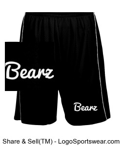 Adult Black Bearz Shorts Design Zoom