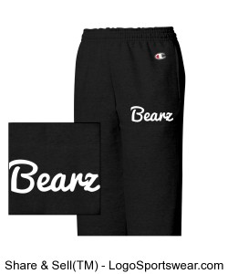 Youth Black Bearz Joggers Design Zoom